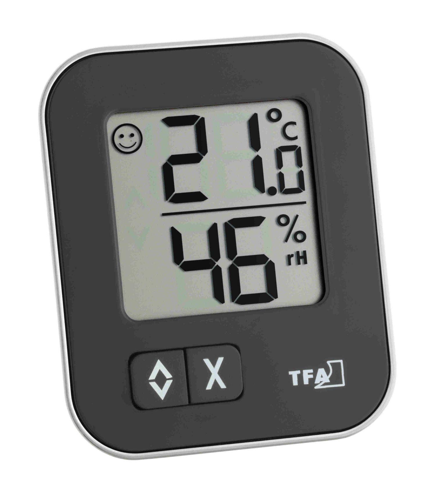 Digitální teploměr s vlhkoměrem TFA 30.5026.01 MOXX - černý