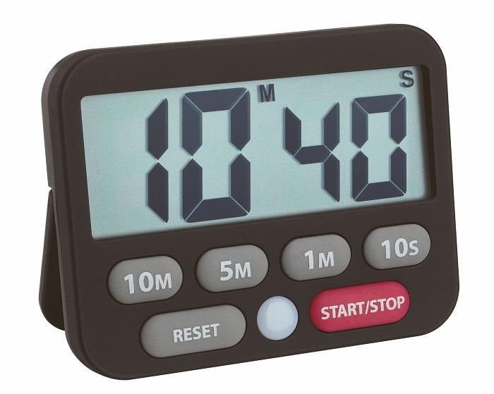Digitální časovač a stopky 38.2038.01 - černá