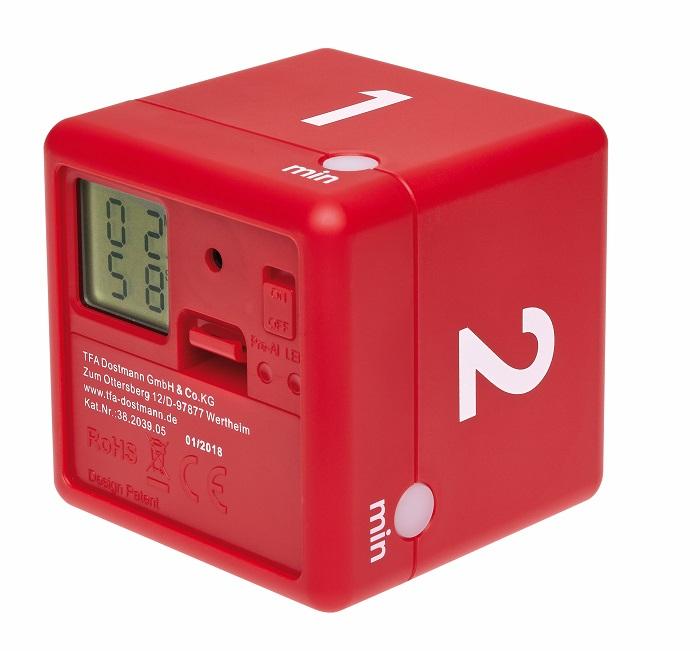 Digitální časovač TFA 38.2039.05 CUBE - červený