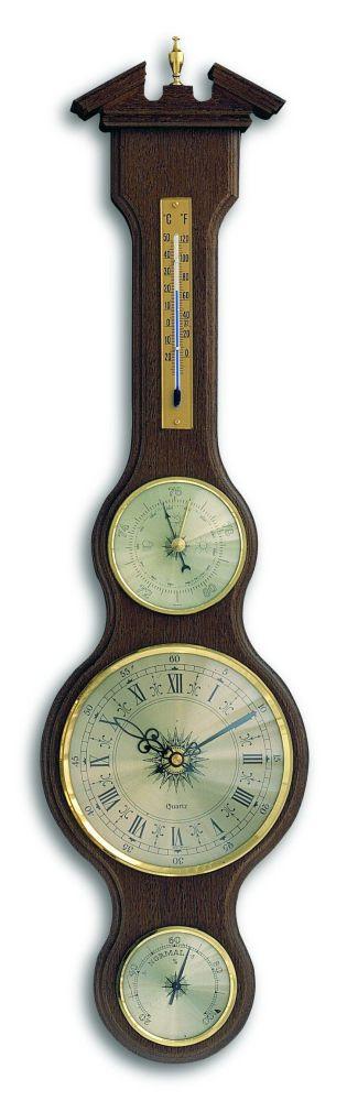 Meteostanice kaplička TFA 45.3004.03 s teploměrem, vlhkoměrem, barometrem a hodinami