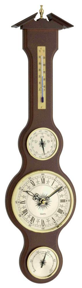 Meteostanice kaplička TFA 45.3004.04 s teploměrem, vlhkoměrem, barometrem a hodinami