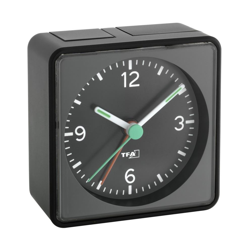 Elektronický analogový budík TFA 60.1013.01 - černý