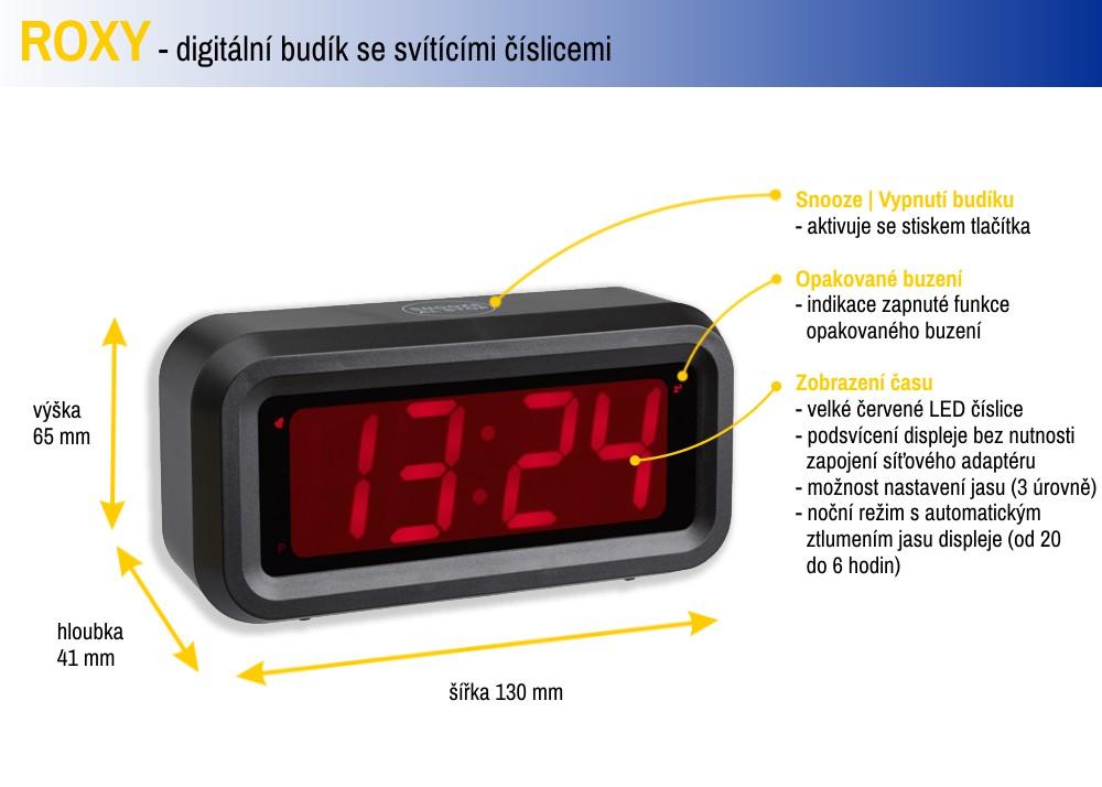 Digitální budík TFA 60.2024.10 ROXY