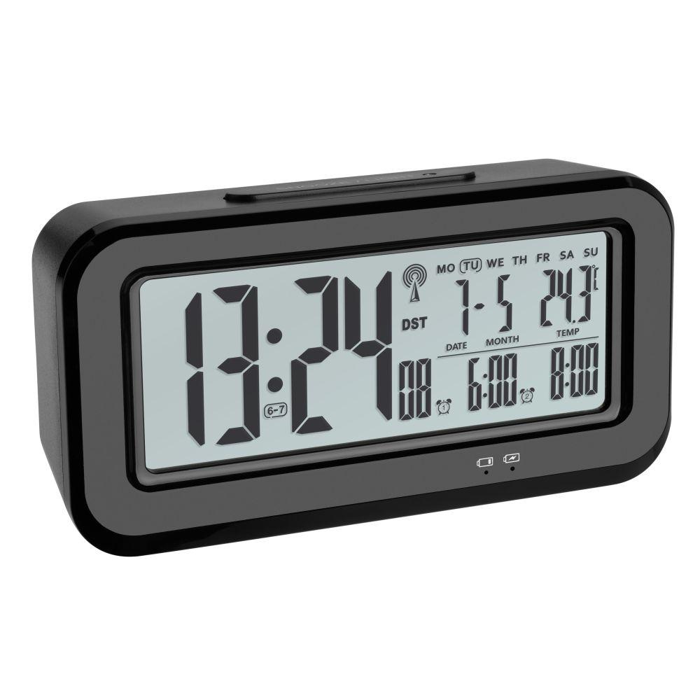 Rádiem řízený digitální budík s automatickým podsvícením TFA 60.2554.01 BOXX