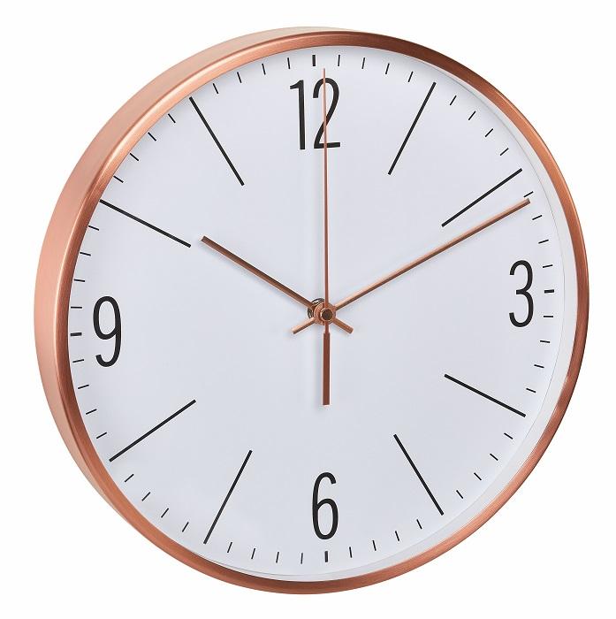 Rádiově řízené nástěnné hodiny s tichým chodem v barvě mědi TFA 60.3534.51