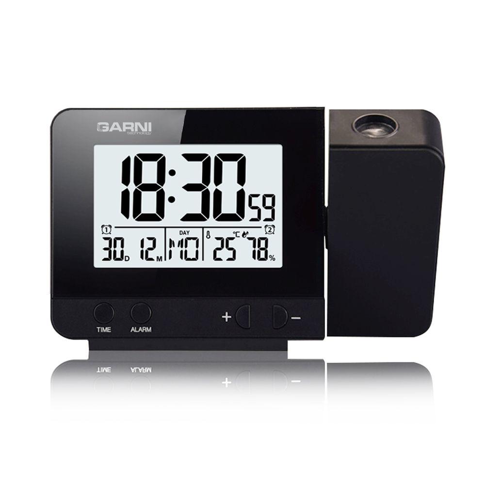 Digitální budík s projekcí času a vnitřní teploty GARNI 140