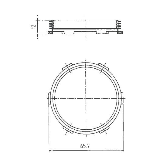 Instalační vložka pro přístroje na zabudování - A1.100792