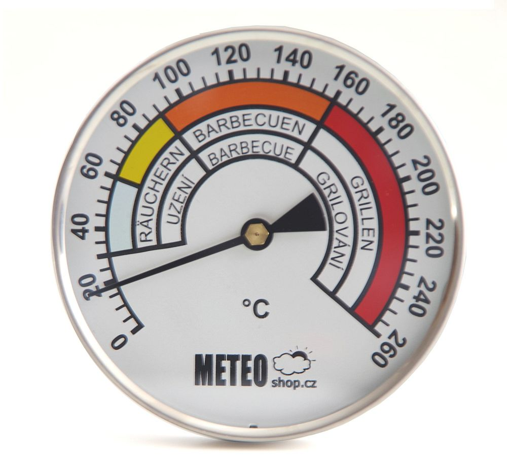 Teploměr do udírny - průměr 100 mm, stonek 250 mm